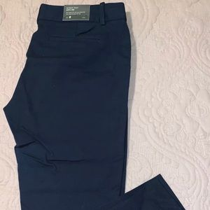 J. Crew navy slim ankle Winnie pants size 8